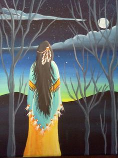 Southwestern Art Original Painting Native by MountainGirlCreates, $65.00