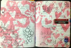 art journal page by Rachel Mims in @Jamie Robertson journal - rachelmims.blogspot.com