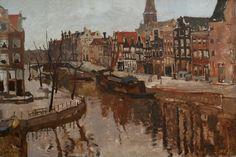 Korte Prinsengracht, corner Brouwersgracht, Amsterdam, George Hendrik Breitner. Dutch (1857 - 1923)