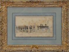 """EDMUND JOHANN NIEMAN (1813-1876)  Goodrich on the Wye  oil on canvas  signed lower right Niemann  restretched and relined  titled on stretcher  16"""" x 24"""""""