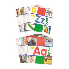 Alphabet A-Z Readers | Promote literacy with these colorful readers! Each of the 26 books focuses on a different letter. #literacy #read