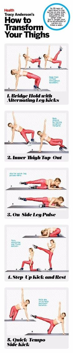 Our star trainer Tracy Anderson reveals the most effective exercises for well-defined legs. This workout targets the entire thigh, including that tricky-to-tone inner thigh zone. Fitness Workouts, Butt Workout, Fitness Diet, Health Fitness, Yoga Fitness, Workout Trainer, Muscle Fitness, Workout Men, Men Health