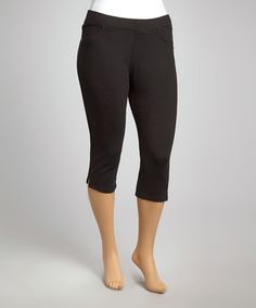 7a03d687212 Another great find on  zulily! Black Classic Cropped Jeggings - Plus by  Poplooks
