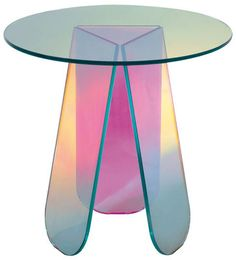 Shop SUITE NY for the Shimmer Table by Patricia Urquiola for Glas Italia and more contemporary iridescent pearlescent cocktail side tables from Italy