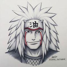 Sewoch on Pikomit : Jiraya 💜 ! Naruto Sketch Drawing, Naruto Drawings, Anime Drawings Sketches, Anime Sketch, Kakashi Drawing, Pencil Drawings, Wallpaper Naruto Shippuden, Naruto Shippuden Sasuke, Naruto Kakashi