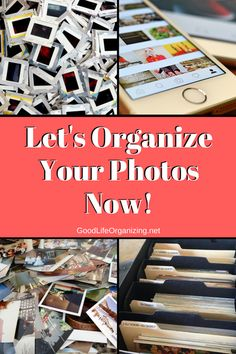 It's time to organize your photos to preserve them for future generations & enjoy them now! Tips from Photo Organizer Andi Willis of Good Life Organizing Scrapbook Organization, Storage Organization, Organizing Tips, Genealogy Organization, Craft Storage, Storage Ideas, Picture Storage, Photo Album Storage, Foto Fun