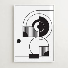 Unusual geometric poster with a DUDU bird - perfect decoration of a men's room