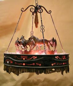 Running Horse Chandelier by Creations Studio