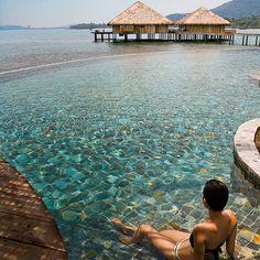 5 Beautiful Overwater Bungalows, according to @TravlandLeisure - we concur! #tahiti