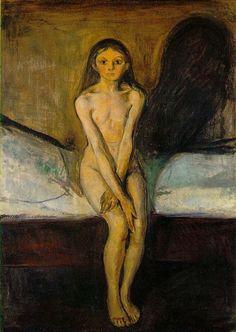 Edvard Munch, Puberta, expresionismus