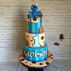 Nancy Cross: Cookie Monster birthday cake …