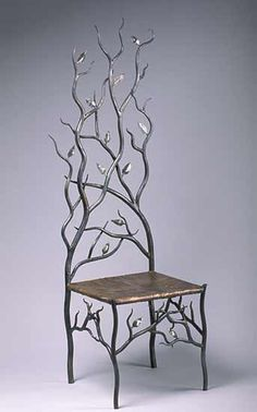 """Spring's Throne"" by Rachel Miller: Steel & Copper Chair 