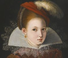 16th c girl in a large collar