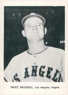 1961 Jay Publishing Los Angeles Angels #NNO Fritz Brickell Front