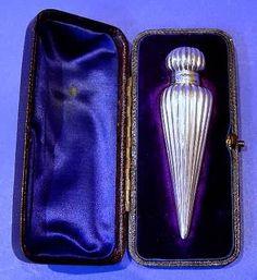 Victorian Antique Silver Fluted Scent Bottle - Daniel Bexfield Antiques.