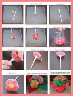Artesanato Passo a Passo: Flor de Balas de Goma