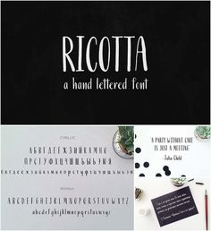 Ricotta is a hand written pointed pen calligraphy font that is filled with personality. It includes both Roman and Cyrillic charachters. Great for use in creating posters, logos, quotes, blog headlines, badges, labels, packaging design, etc. Free for download. File format: .otf, .ttf for Photoshop or other software. File size: 1 Mb.