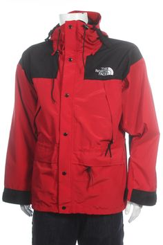 76b8cceeeaf Vintage 90s The North Face Gore-Tex Mountain Outdoor Ski jacket Red Black  Size