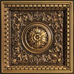 238ag-24x24 Ceiling Medallions Tile Antique Gold