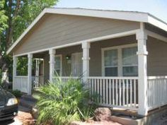 Love this front porch! Cute house!  Front of Home 2008 Cavco Mobile / Manufactured Home in Phoenix AZ via MHVillage.com