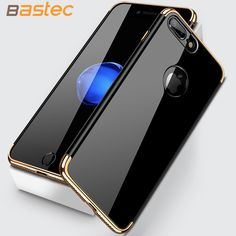 Mobile Phone Bags Cases For iPhone 7 7 Plus , Bastec Luxury Frosted Shockproof Plating Metal Texture Skin Protector Phone Case for iPhone 7 Plus *** This is an AliExpress affiliate pin.  Click the image to visit the AliExpress website