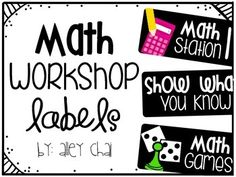 Starting math workshop in your classroom? These are the cutest! {FREEBIE}
