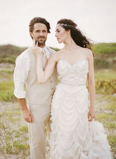 Nautical themed wedding | Archetype Studio | see more on: http://burnettsboards.com/2014/10/mermaid-inspired-elopement/
