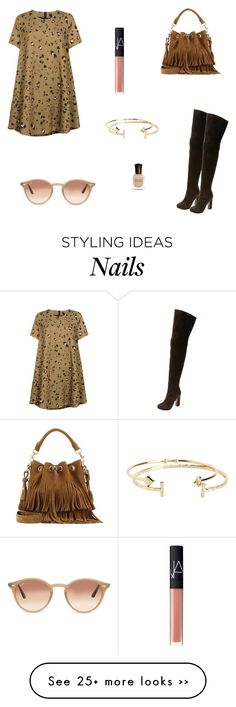"""""""Untitled #5080"""" by mie-miemie on Polyvore featuring Essentiel, Pierre Hardy, Yves Saint Laurent, Ray-Ban, NARS Cosmetics, Deborah Lippmann and Aéropostale"""
