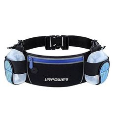 URPOWER Running Belt Multifunctional Zipper Pockets Water Resistant Waist Bag, With 2 Water Bottles Waist Pack for Running Hiking Cycling Climbing. And for iPhone, iPod, Samsung and Other Smartphones - URPOWER water bottle waist packs. The URPOWER waist pack is functional while lightweight. The zippered pocket allows you to take your phone as well as other items with you while doing outdoor sports. There are two extra pockets for water bottle and a hole for your earphone cable to come out…