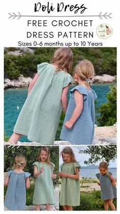 This adorable crochet dress pattern for babies and little girls is now available for free. With loads of pictures and video tutorials within the pattern, even a beginner will be able to make this dress. It is so easy! Crochet Kids Hats, Crochet Girls, Cute Crochet, Beautiful Crochet, Crochet Clothes, Crochet Baby, Crochet Dresses, Crochet Children, Easy Crochet Patterns