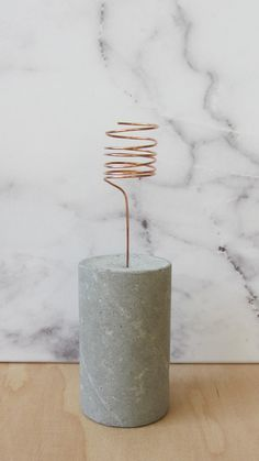 Concrete plant holder with copper element / by FAIBLEdesign