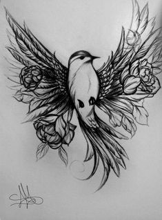 Beautiful Tattoos Unique Designs, tattoos can be so different and the way they all vary is the best about them. Animal Tattoos For Women, Rib Tattoos For Women, Unique Tattoos For Women, Unique Animal Tattoos, Tattoo Design Drawings, Tattoo Sketches, Tattoo Designs, Bird Drawings, Nature Tattoos