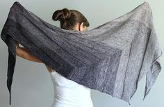 Everyday shawl was designed specifically for gradient yarns and if you choose a subdued gradient kit like this grey, it can be worn everyday with any outfit - find the knitting pattern on LoveKnitting! Knitted Shawls, Crochet Shawl, Knit Crochet, Shawl Patterns, Knitting Patterns, Stockinette, Shawls And Wraps, Pulls, Knitting Projects
