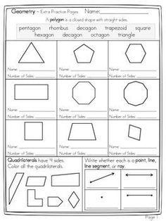 3rd grade math practice 2d shape properties 1 educational pinterest math geometry. Black Bedroom Furniture Sets. Home Design Ideas