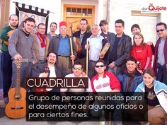 Spanish Word of the Day: CUADRILLA #PalabradelDía #LearnSpanish www.donquijote.org/spanish-word-of-the-day/word/cuadrilla