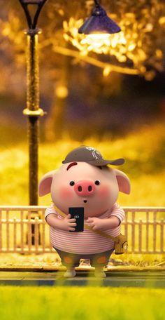 Cute Rabbit Images, Pig Illustration, Illustrations, Pig Wallpaper, Cute Piglets, Pig Drawing, Kawaii, Little Pigs, 3d Character
