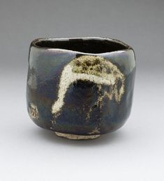 Raku IX (Ryonyu) (Japan, 1756 - Black Raku Teabowl 'Shorei' (Aged Pine) with Crane Design, circa Ceramic, Raku ware; earthenware, Height: 3 in LACMA Collections Online Japanese Ceramics, Japanese Pottery, Raku Pottery, Pottery Art, Slab Pottery, Thrown Pottery, Ceramic Clay, Ceramic Plates, Raku Kiln