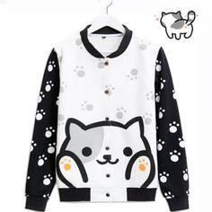 xxl Neko-Atsume-cat-Meow-backyard-Tshirt-sweatshirt-hoodie-baseball-coat-jacket