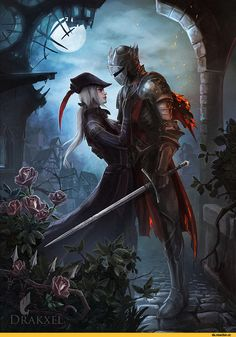 Ashen One,DSIII персонажи,Dark Souls 3,Dark Souls,фэндомы,Lady Maria,BB персонажи,BloodBorne,DS crossover