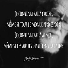 Très belle #citation de l'abbé Pierre