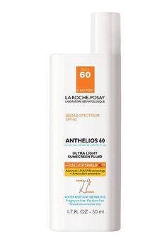La Roche-Posay Anthelios 60 Ultra-Light Facial Sunscreen Fluid, Water Resistant with SPF 60