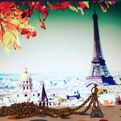 Want my work pass on this Necklace Lanyard by Masie Jane - I Love Paris Necklace Eiffel Tower Charm