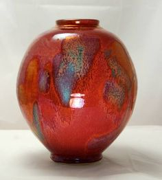 Gordon Hutchens - Denman Island B.C., Canada - red ruby porcelain vase