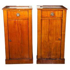 Pair of Antique Biedermeier Style Nightstands 1