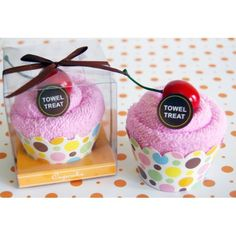 Cupcake Towel Gift and Favors