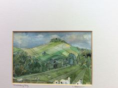 A painting of Chanctonbury Ring for the up coming Adur Art Trail in Shoreham Timeline, Art Work, Watercolor Paintings, Vintage World Maps, Trail, My Arts, Presents, Ring, House