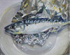 "Saatchi Art Artist Leslie Bowman; Painting, ""Mackerel and Tin Foil"" #art"