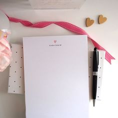 Personalized Notepad  Simple Heart   Gold by #letterlovedesigns, $23.00