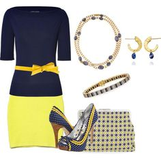 Yellow and Navy for Spring