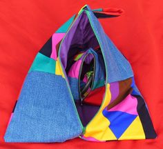 Creating my way to Success: 3 Size Triangle Pouches - a tutorial; Use What You've Got Day 9